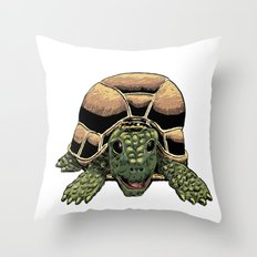 Happy Tortoise Throw Pillow