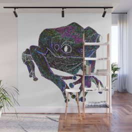 Psychedelic Giant Monkey Frog Wall Mural