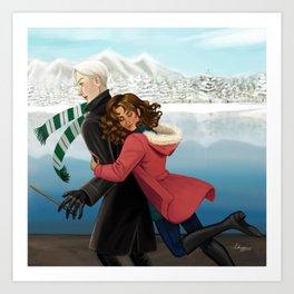 Surprise Hug Attack! Art Print