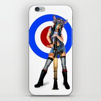 tank girl iPhone & iPod Skins featuring Tank Girl by Valérie Loetscher (Vay)