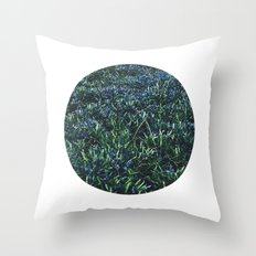 Planetary Bodies - Blue Flowers Throw Pillow