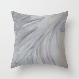 Abstract Morning Fog Throw Pillow