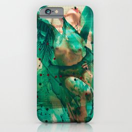 Smaragd shower - nude in bathroom iPhone Case