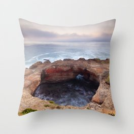 Devils Punchbowl Throw Pillow