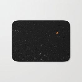 Orange Astronaut In Space  Bath Mat