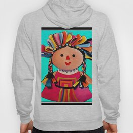 Mexican Maria Doll (turquoise) Hoody