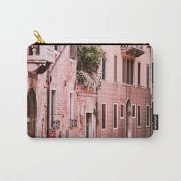 Venice pink canal with old buildings travel photography Carry-All Pouch