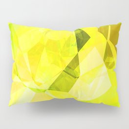 Pale Yellow Poinsettia 1 Abstract Polygons 1 Pillow Sham
