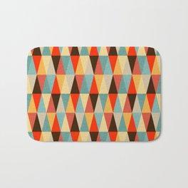 Red & Brown Geometric Triangle Pattern Bath Mat