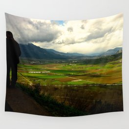 Farm Lands of Greece Wall Tapestry