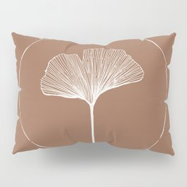 Hand Drawn Ginkgo Leaf Pillow Sham