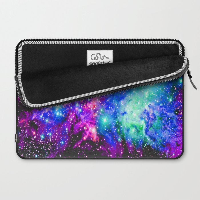 Fox Fur Nebula Galaxy Pink Purple Blue Laptop Sleeve