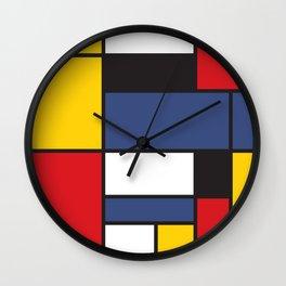 Mondrian 3 Wall Clock