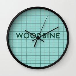 WOODBINE   Subway Station Wall Clock