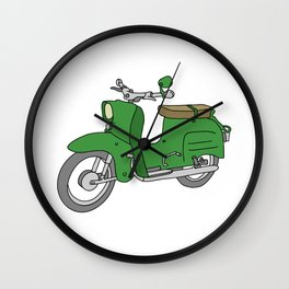 Schwalbe. Vintage motor scooter of GDR Wall Clock