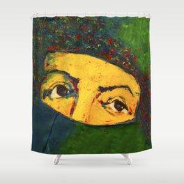 Only The Eyes Can Speak Shower Curtain