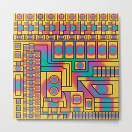 Veridian Panel Metal Print