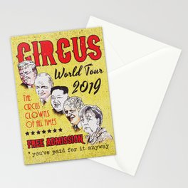 Political Circus Clowns World Tour 2019 Stationery Cards