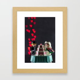 Playmobile Wedding Couple With Heart Bokeh Framed Art Print