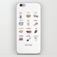 battlestar iPhone & iPod Skins featuring Foods of The Office by Tyler Feder