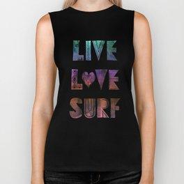 Live Love Surf - I Biker Tank