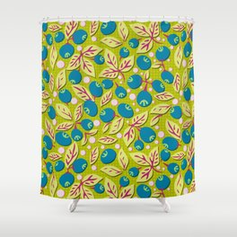 Blueberry Preserves Shower Curtain