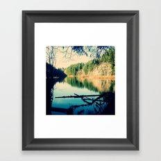 Lost Lake Love Framed Art Print