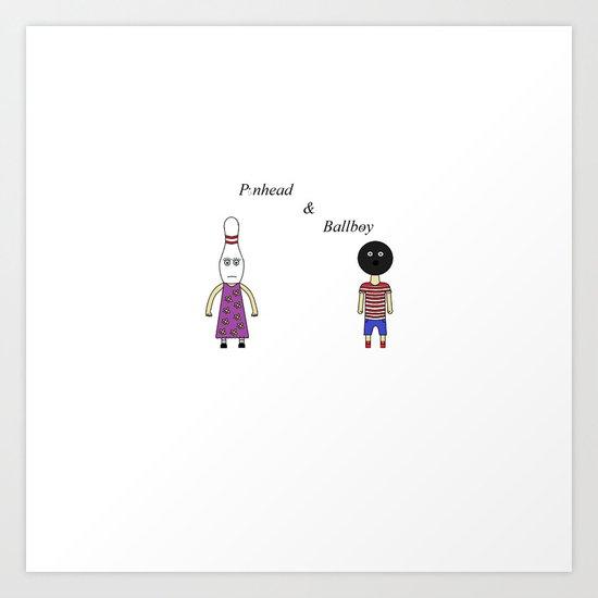 Pinhead & Ballboy In Color Art Print