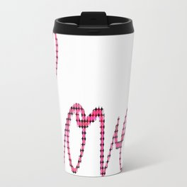 Love Script Checkers Travel Mug