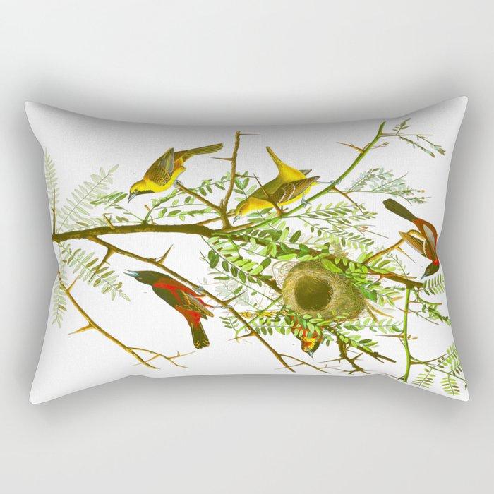Orchard Oriole Bird Rectangular Pillow