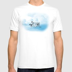 WISH Mens Fitted Tee MEDIUM White