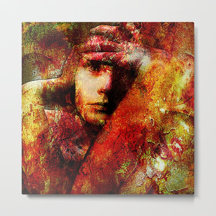 Spirit torments   (This Artwork is a collaboration with the talented artist Timothy Davis ) Metal Print