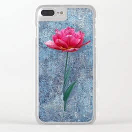 Pink Tulip Clear iPhone Case
