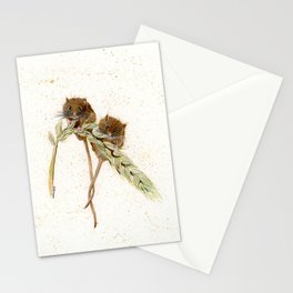Two Mice - animal watercolor painting Stationery Cards