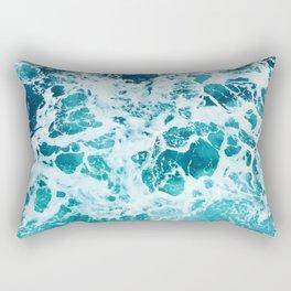 Ocean Splash IV Rectangular Pillow