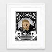 sons of anarchy Framed Art Prints featuring Sons of Anarchy Series by Chad Trutt