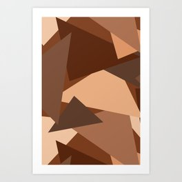 Chocolate Caramels Triangles Art Print