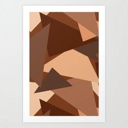 Chocolate Caramels Triangles Art Print