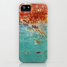 Teal Rust iPhone (5, 5s) Slim Case