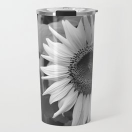 Sunflower Black And White 2 Travel Mug