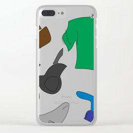 He Loves Fashion (Jeremiah) Clear iPhone Case