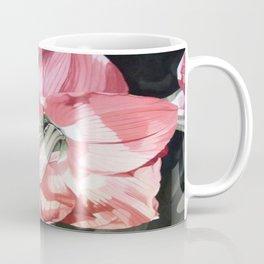 Pink Amaryllis Watercolor Botanical Garden Flower Painting Nature Art Coffee Mug