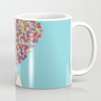 pixar Mugs featuring Up by LOVEMI DESIGN