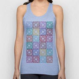 Maze Colorful Seamless Pattern Unisex Tank Top