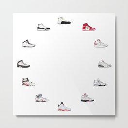 Air Jordan Series 1-12 Metal Print