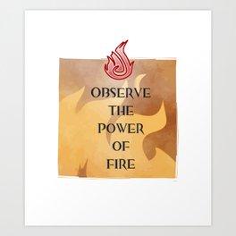 Fire Attunement Art Print