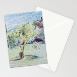 A Tree in Oppède, France. Stationery Cards