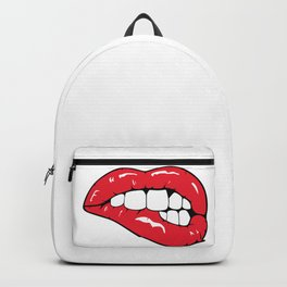 Red Lips Pop art Backpack