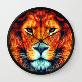Lion - Colorful Animals Wall Clock