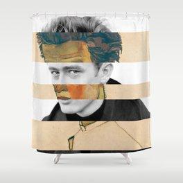 Egon Schiele's Self Portrait in a Striped Shirt & James D. Shower Curtain